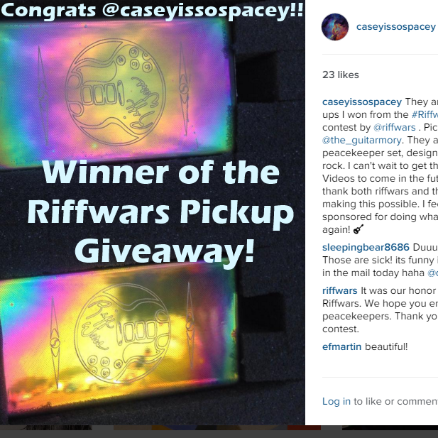 Riffwars Engraved Pickup Giveaway