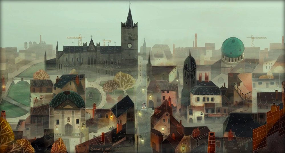 Dublin as seen in the movie '' Song of the Sea'' from Irish animation studio  © Cartoon Saloon