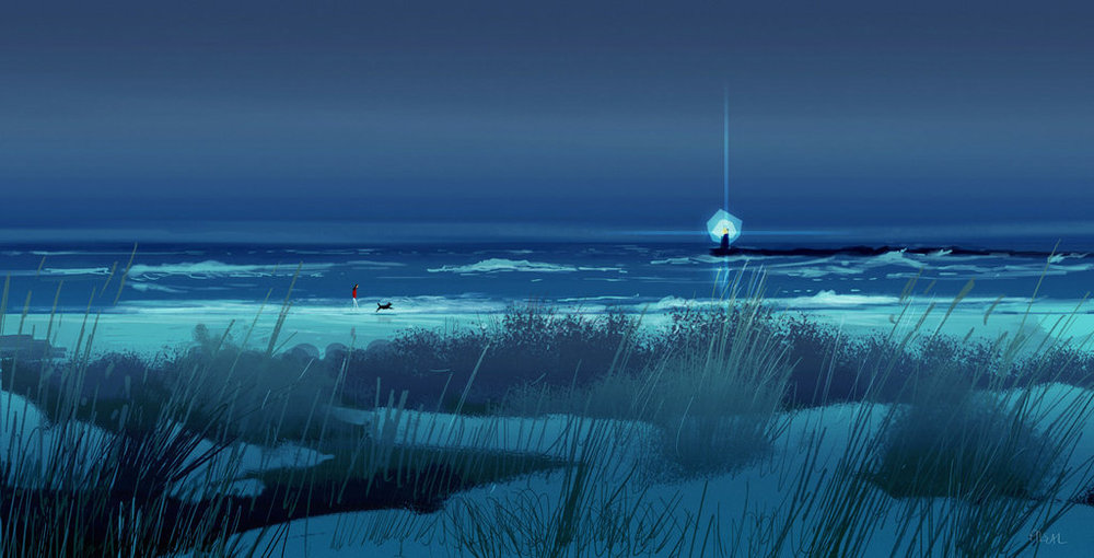 walking_on_the_beach_at_night__by_pascalcampion-da9vj0r.jpg