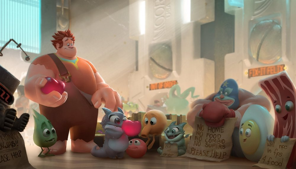 """WRECK-IT RALPH""   Game Central Station visual development. �2012 Disney. All Rights Reserved."