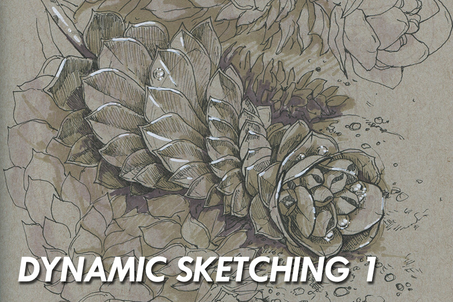 - Dynamic Sketching 1 is a class designed to develop a foundation in basic drawing skills. Students will learn how to break down objects to their most simplistic forms. Using pen and toned paper, students will learn to build confidence in your line work.
