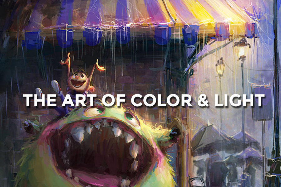 - The Art of Color and Light is an exploration in the properties of color and light under a variety of conditions. This is an essential stage in concept art that develops mood and communicates the narrative of the story by means of visual cues.