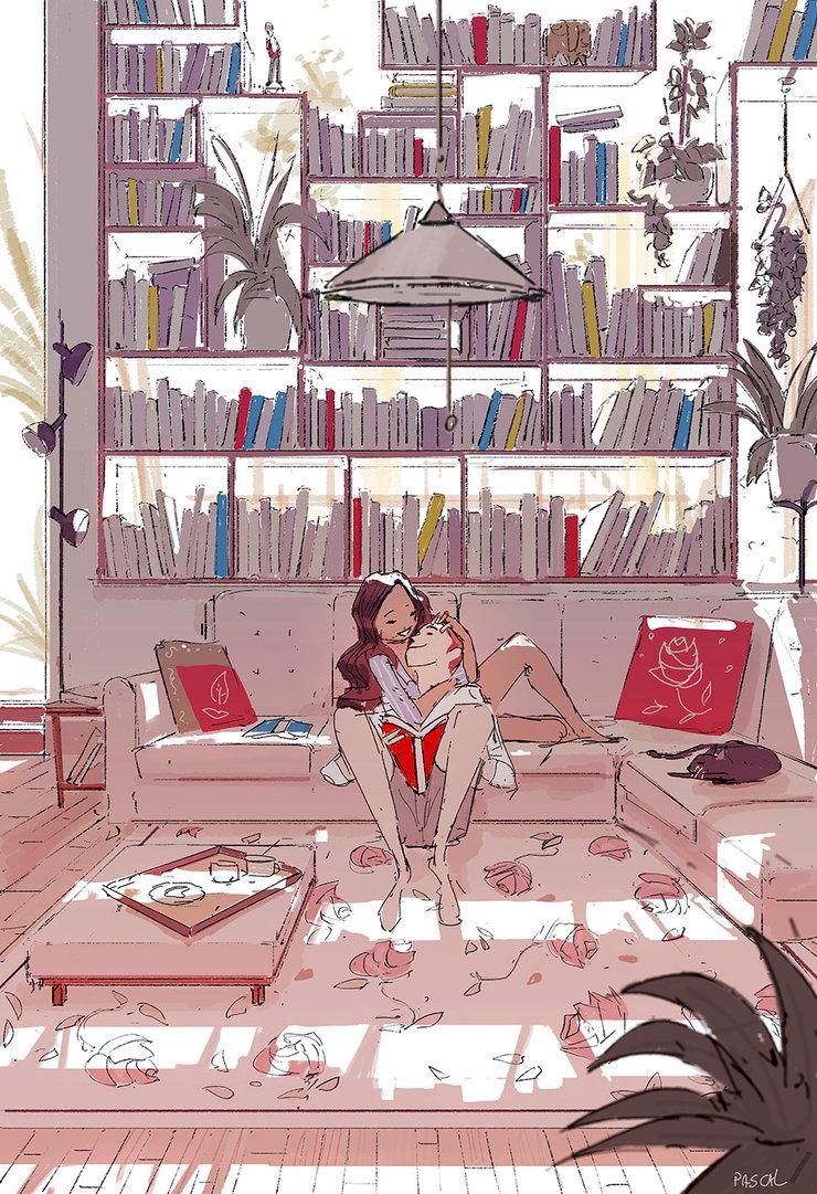 meet_me_behind_the_bookshelf__by_pascalcampion-dc481bq.jpg