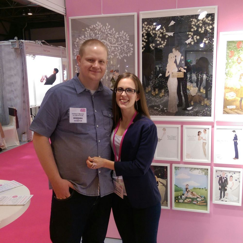That's us – Tom and Hannah. We make a good team don't you think!