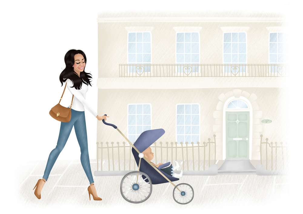 The Baby Aim - Website Landing Page Header illustration