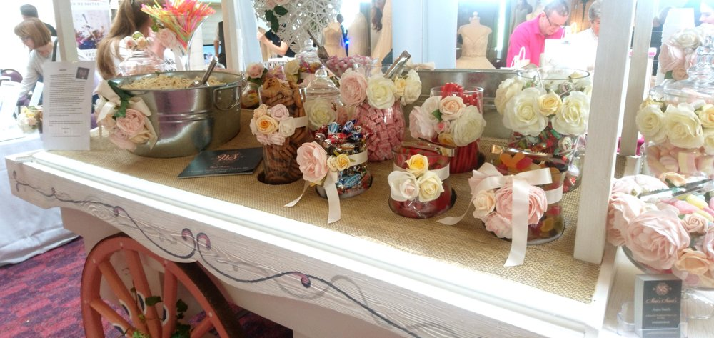 Scrummy sweets on Neats Sweet's trolley.