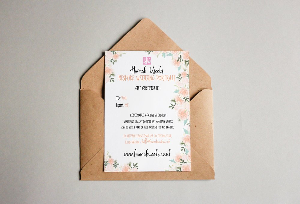 Example wedding portrait voucher