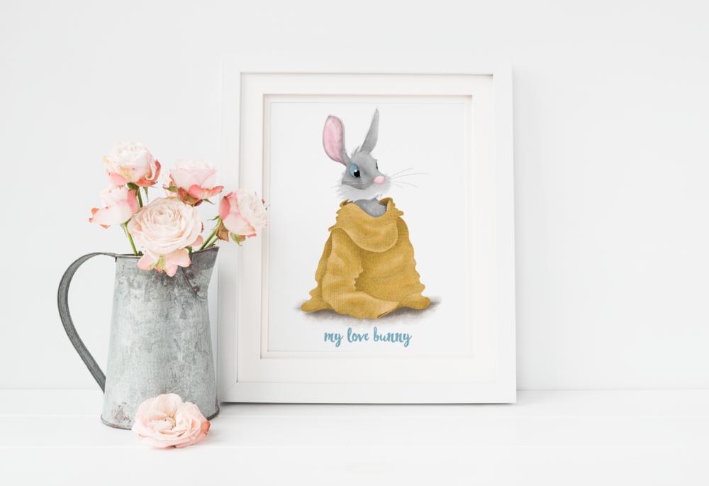 Bunny love print