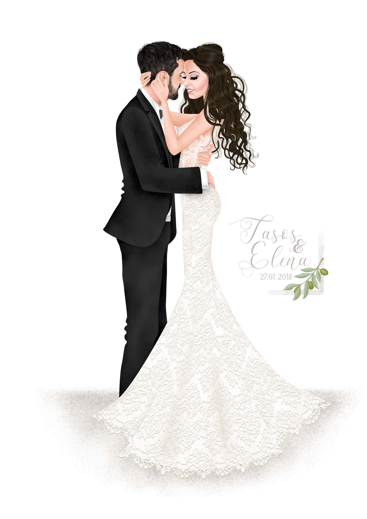 Wedding Portraits — Hannah Weeks Illustration