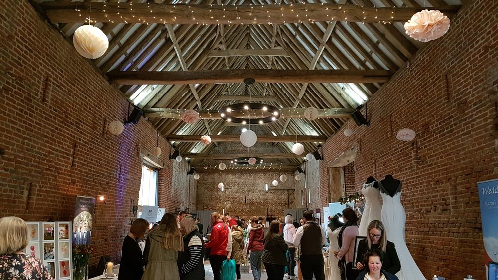 The wonderful main room in the Tudor barn - just look at that vaulted, beamed ceiling!