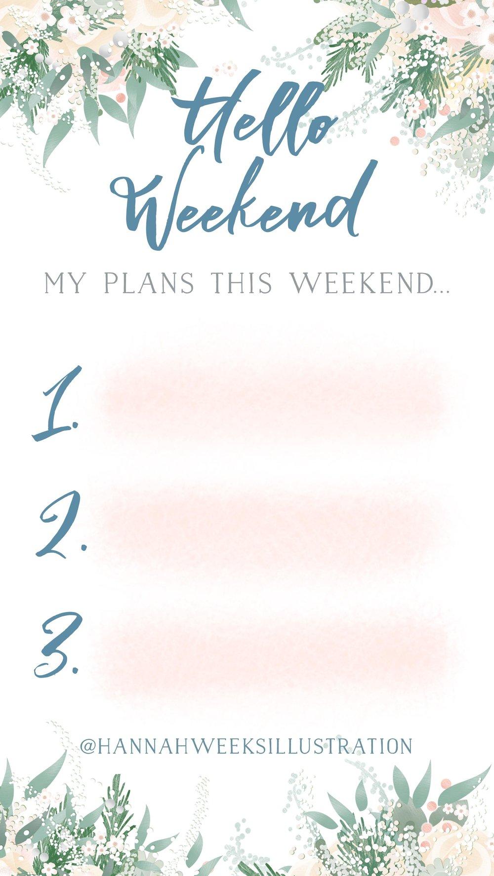 Hannah Weeks Illustration - Hello weekend.jpg