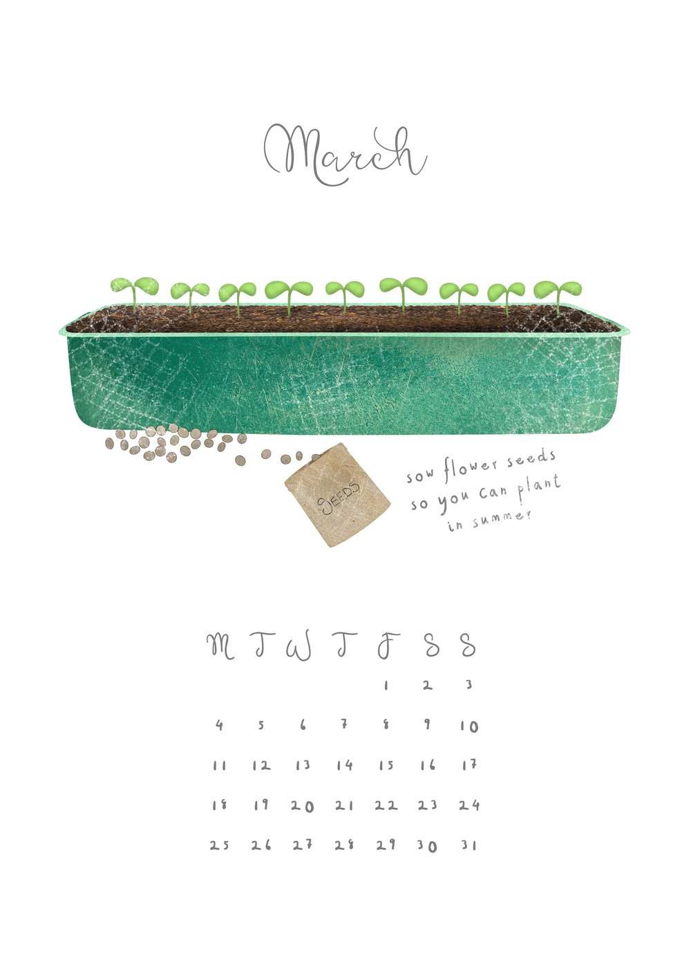 Hannah Weeks Illustration - March - Sow Seeds - A4.jpg