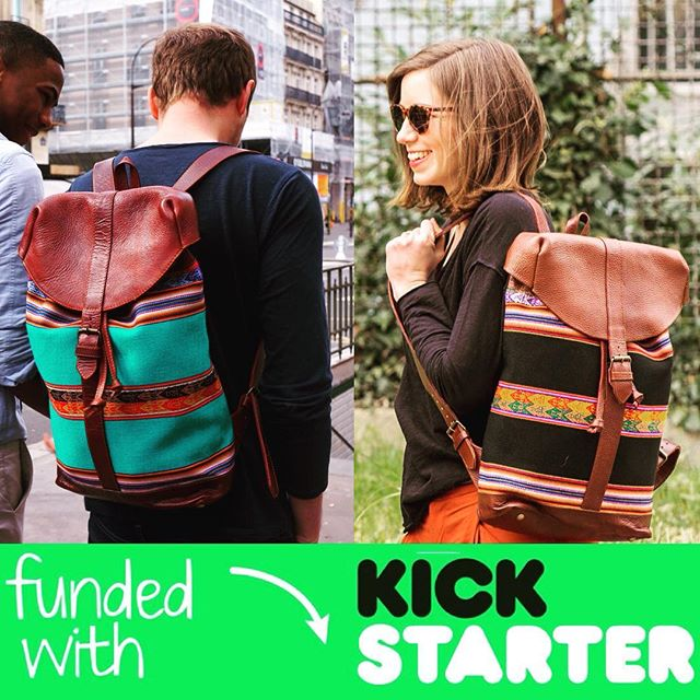 🎊 @machitosbackpack is successfully funded with Kickstarter 🎉 THANK YOU FOR YOUR LOVE & YOUR SUPPORT. Get your backpack at www.machitos.co #KICKSTARTER #craftsmanship #Handmade #backpack #madeinperu #madewithlove #vibrant #leather #manta #lavidaesunaaventura #peru