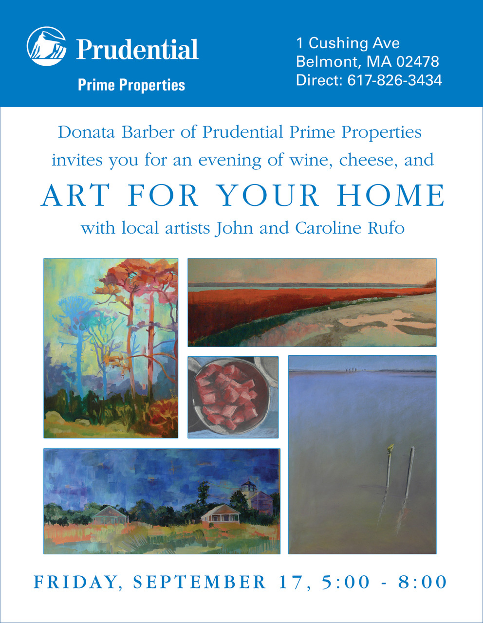 John and I are showing some of our work this Friday night in Belmont. Wine and cheese will be served. Please join us!