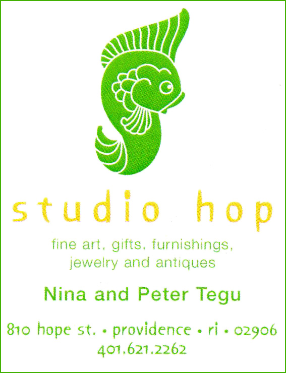 Studio Hop    I delivered art (some of mine and some of John's) to  Studio Hop  in Providence last week. It is located on Hope Street on the north end of town. Owner Nina Tengu is lovely. I highly recommend it if you're heading to Providence.