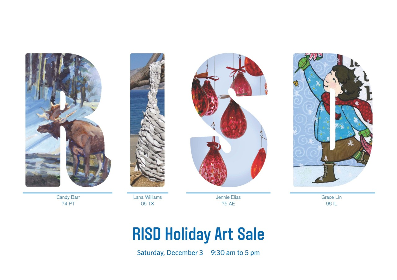Come see our work this  Saturday December 3, 10:00-5:00, at the Rhode Island Convention Center  at the  RISD Alumni Holiday Sale . John will be manning our booth. If you didn't blow everything at the Black Friday Sales, come on down and find something beautiful and unique. Great shopping for apparel, ceramics, glass, jewelery, paintings, drawings, and so much more.