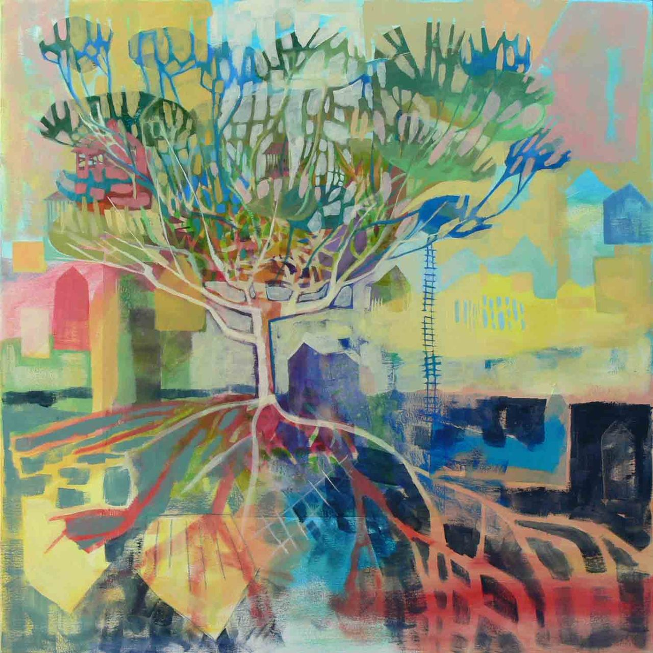 "Good news!  Beginning next week, the  Bowersock Gallery  in Mount Dora, Florida will be representing my work, including this painting.  I'm particularly excited because I visited their Provincetown location this summer and I just love the work at Bowersock.  The painting above is called ""Reaching for the Well"".  It is 36"" x 36"" mixed media on canvas.    If you find yourself flying south this winter, come on by and see the work!!!"