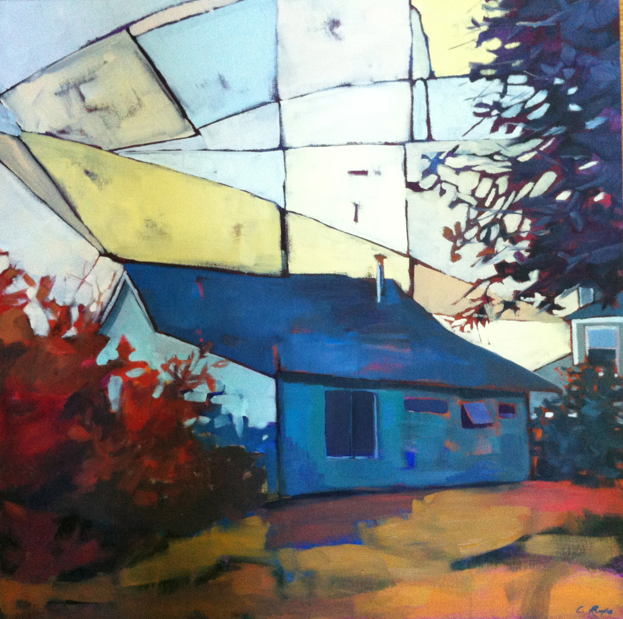 """Until Next Year, 24"""" x 24"""", oil on canvas. These little Cape cottages are so evocative of the promises of summer."""