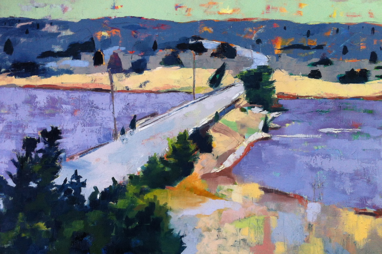 """Wellfleet Harbor, oil on canvas, 24""""x36""""   Already dreaming of our summer vacation…"""