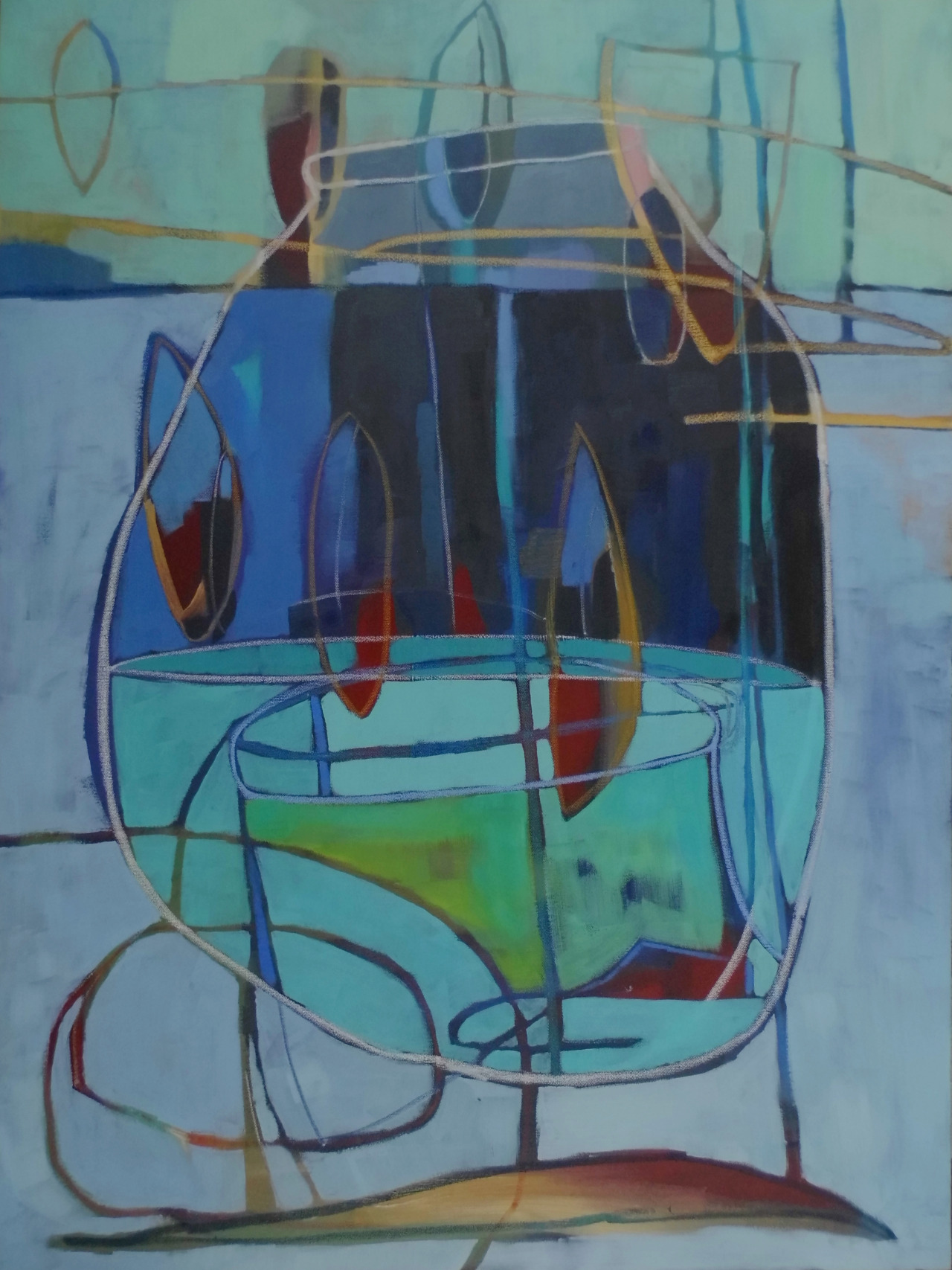 """The Cycle Ends"" 30""x40"", oil on canvas, ©  Caroline Rufo  2014.  I think there will be many more of these vessels."