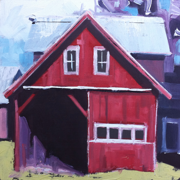 "New ""barn portrait"", currently at Studio Hop in Providence.  Haven't had much time to blog lately.  Hopefully over the holidays  I'll find time to get some more pieces posted."