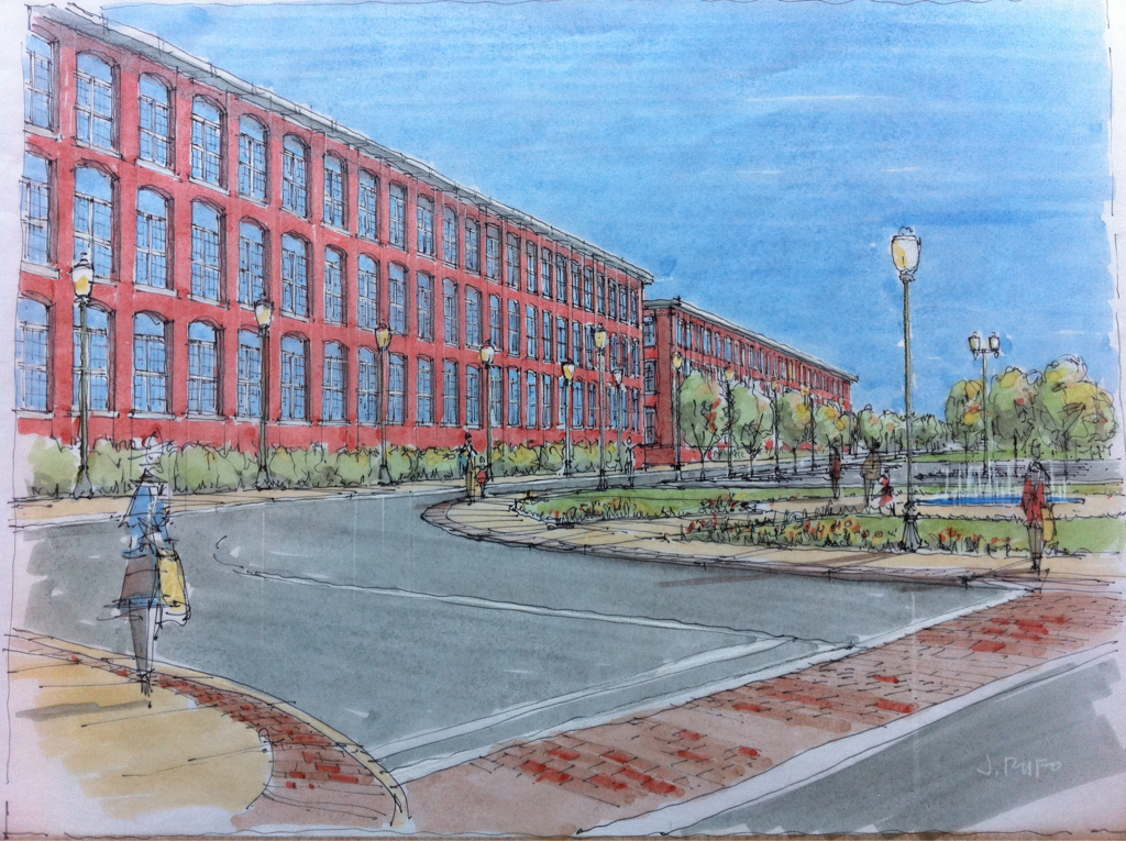 Recent sketch for the city of New Bedford.
