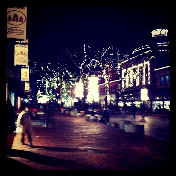 Christmas shopping at Faneuil Hall Market Place