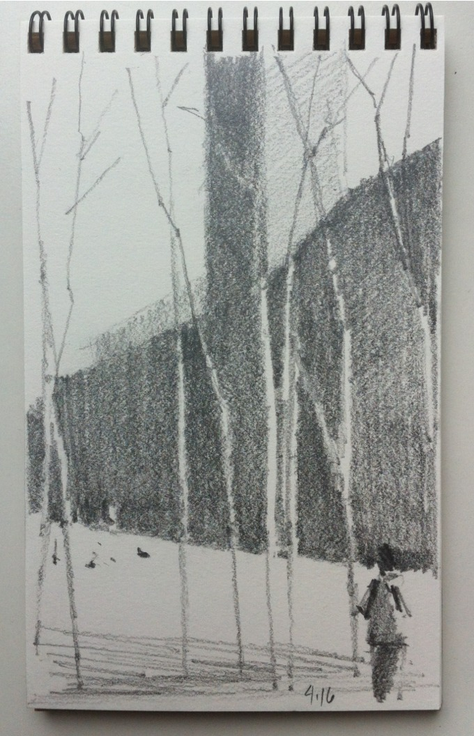 Birch trees at the Tate Modern