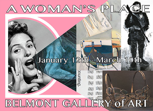 A Woman's Place - Caroline's paintings are featured in this exhibit of feminist art which comes on the first anniversary of the Women's March of 2017. Fourteen women artists, many points of view, lots of terrific art; all curated by Kimberly Becker.Opening Reception Saturday January 13, 2017 6:30 p.m.