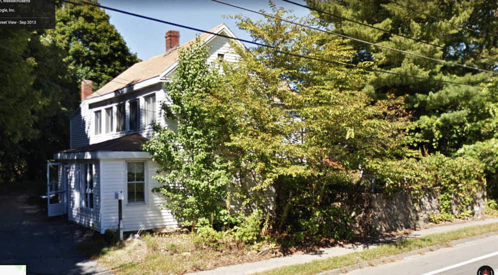 """The """"Chapman House"""" 799 Central Ave. Needham, MA. The house was demolished in 2013."""