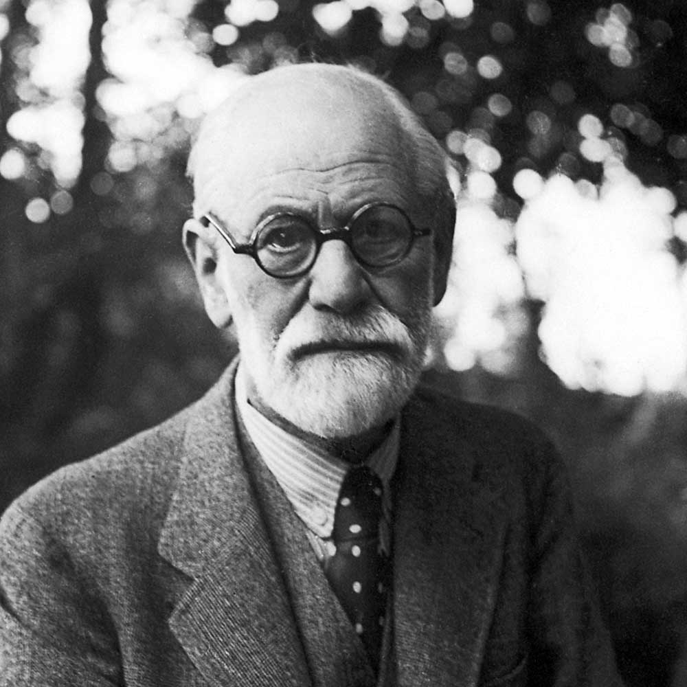 Sigmund Freud (1856-1939) – he is laughing inside, you just can't see it
