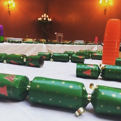 Tables set for today's Christmas lunch! #xmasparty #xmascrackers #xmasdecor #christmasparty #christmasmood #christmastime