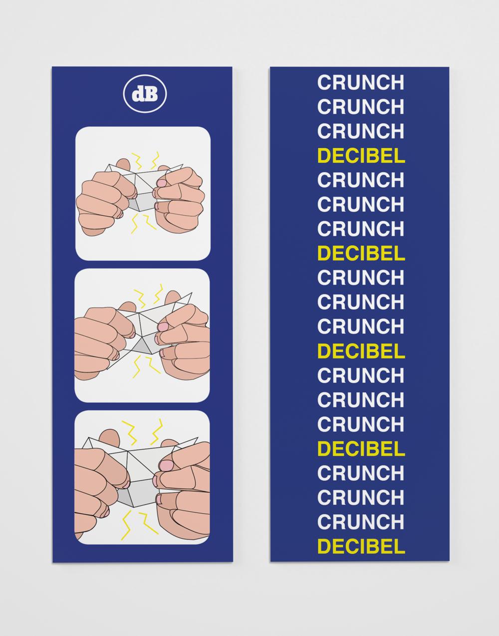 Decibel Crunch Bookmarks