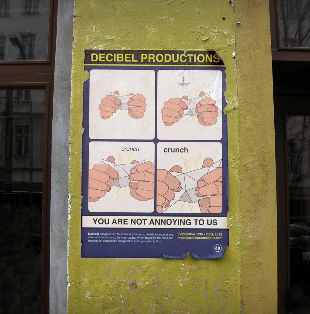 Decibel Crunch Poster