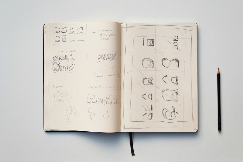 Mardi Gras Sketches