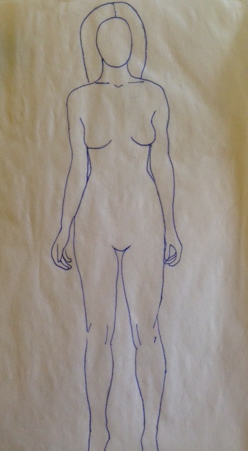 Design figure I created using my athletic body type.