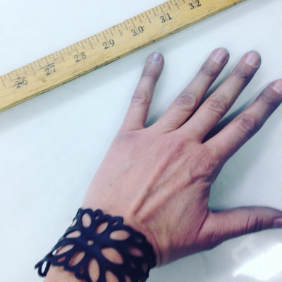 Indigo hands from inspecting Riding Denim