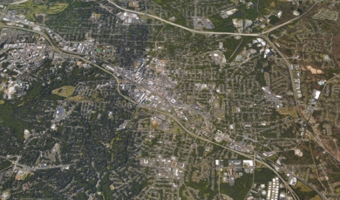 Durham, North Carolina. Google Earth.