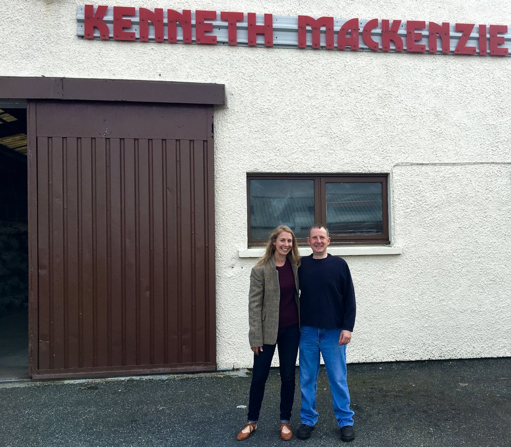 Photo with Calum, the mill manger at Kenneth Mackenzie
