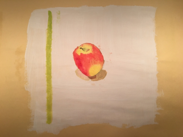 """Jazz Apple"" 1st painting since high school, 14 yrs ago"