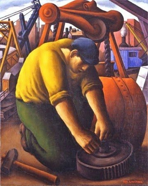 """Man Machine"" (1938) by Paul Raphael Meltsner"