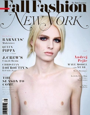 Model Andrej Pejic featured in the cover of New York Magazine, September 2011