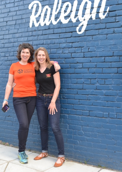 Kate and I posing in Reid Miller Riding Denim outside of HQ Raleigh