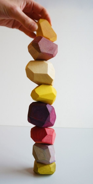 Snego naturally dyed blocks via  Dezeen