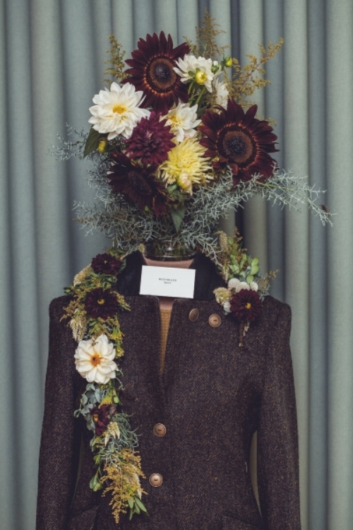 Floral collaboration with Lee Moore Crawford and the Riding Jacket @The Durham Hotel Launch Party. Photo by Maria Brubeck.