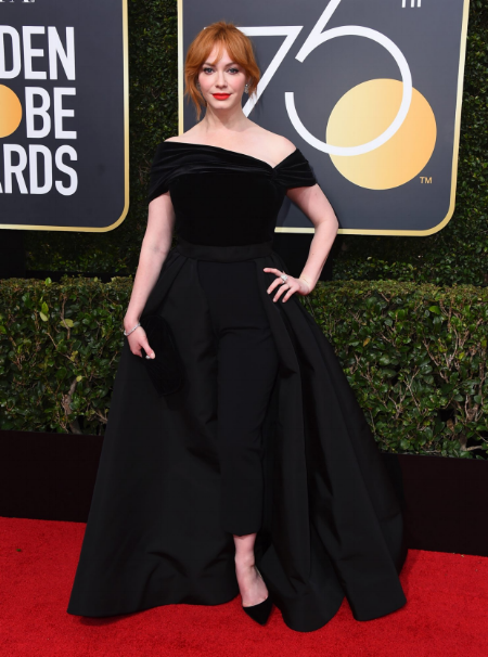 Christina Hendricks at the 75th annual Golden Globe Awards.  Photo credit: Jordan Strauss/AP