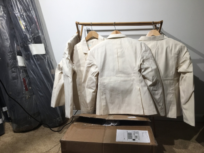 5 muslin Custom-Fit Riding Jacket Prototypes for 5 beta client woman
