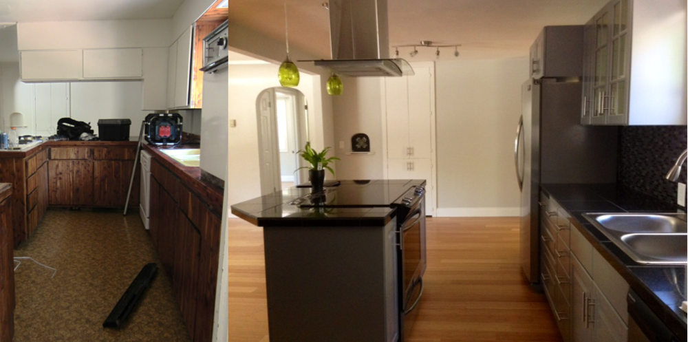 Kitchen ~ Before and After