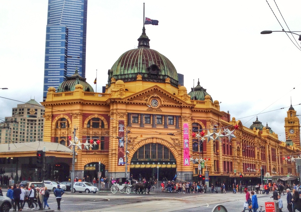 The famous Flinders Street Station in downtown Melbourne