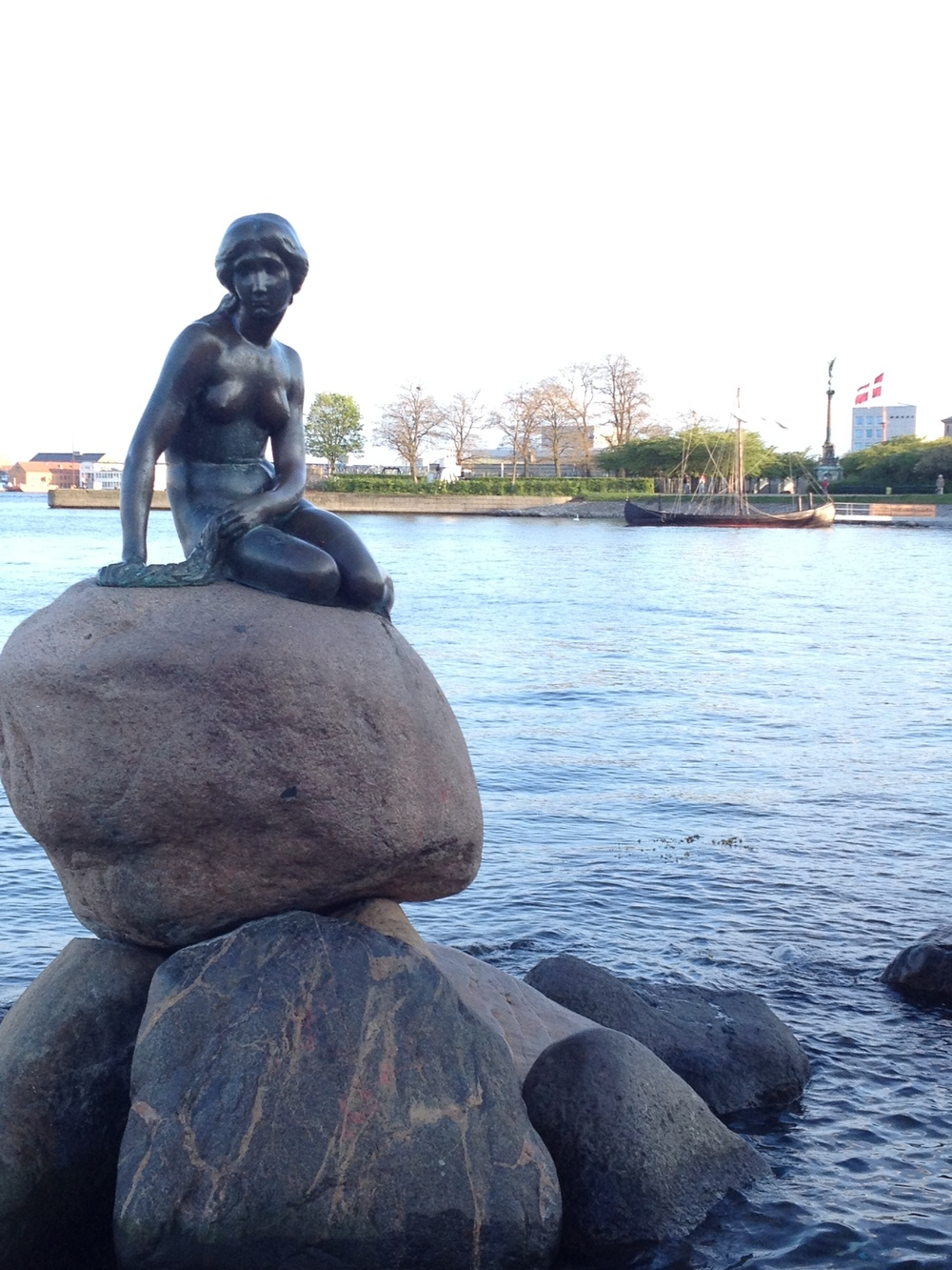 The Little Mermaid Statue in remembrance of Hans Christian Andersen's Work